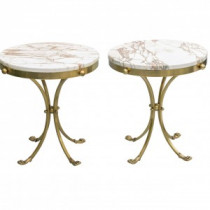 Small Brass Side Table Brass Marble Side Table