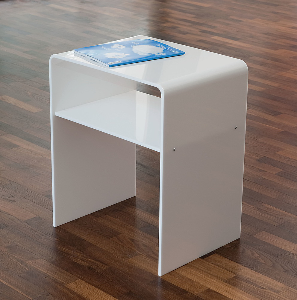 Acrylic Side Table With Casters Home Design Ideas