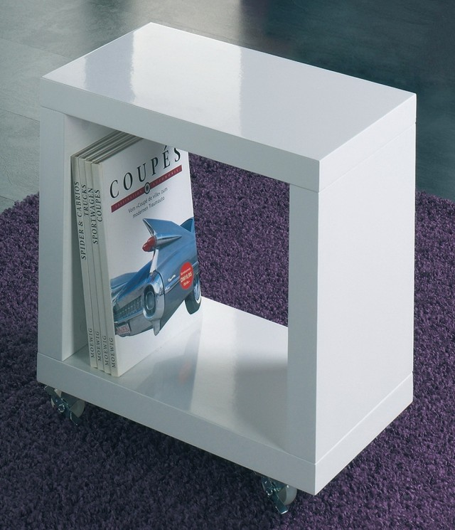 Acrylic Side Table With Wheels