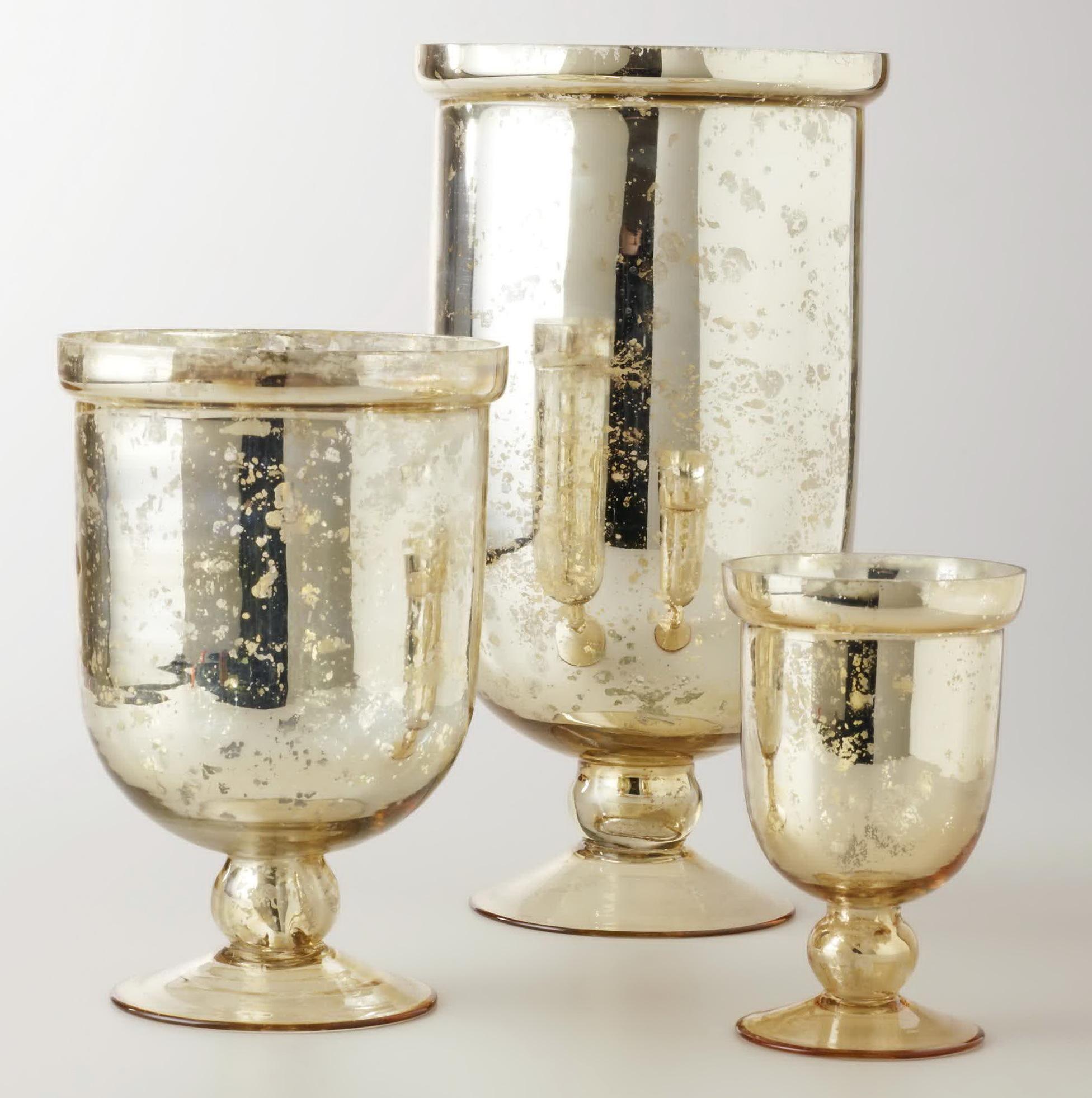 Antique Mercury Glass Vases