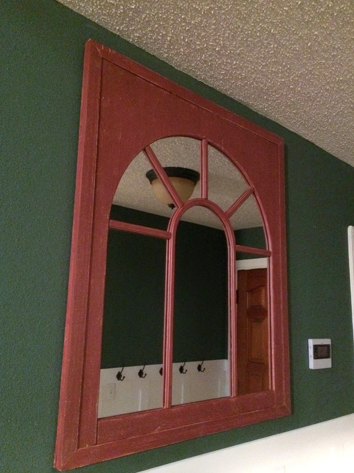 Arched Window Pane Mirror