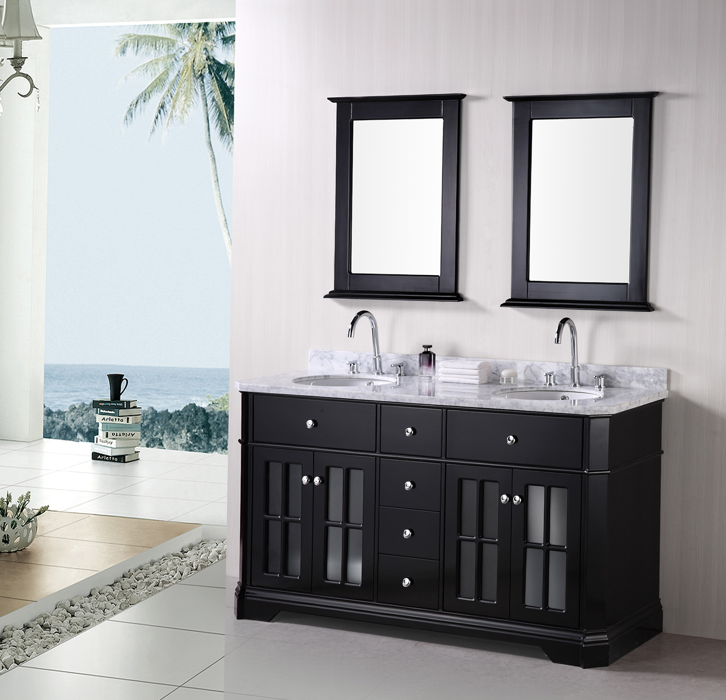Bathroom mirror ideas double vanity home design ideas for Vanity mirrors for bathroom ideas