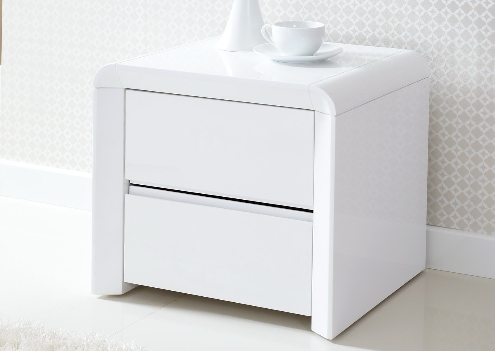 Bedside Table White