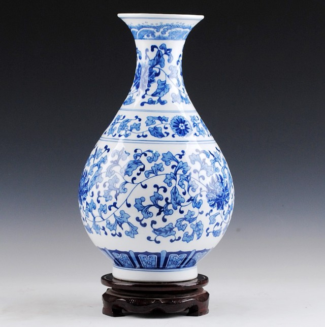 Blue And White Ceramic Vase