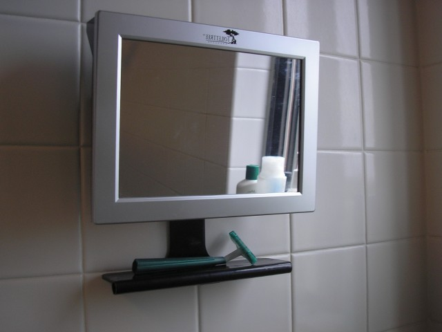 Built In Fogless Shower Mirror