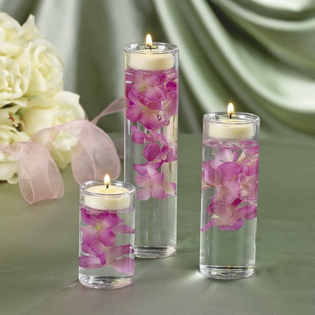 Candles In Vases For Weddings