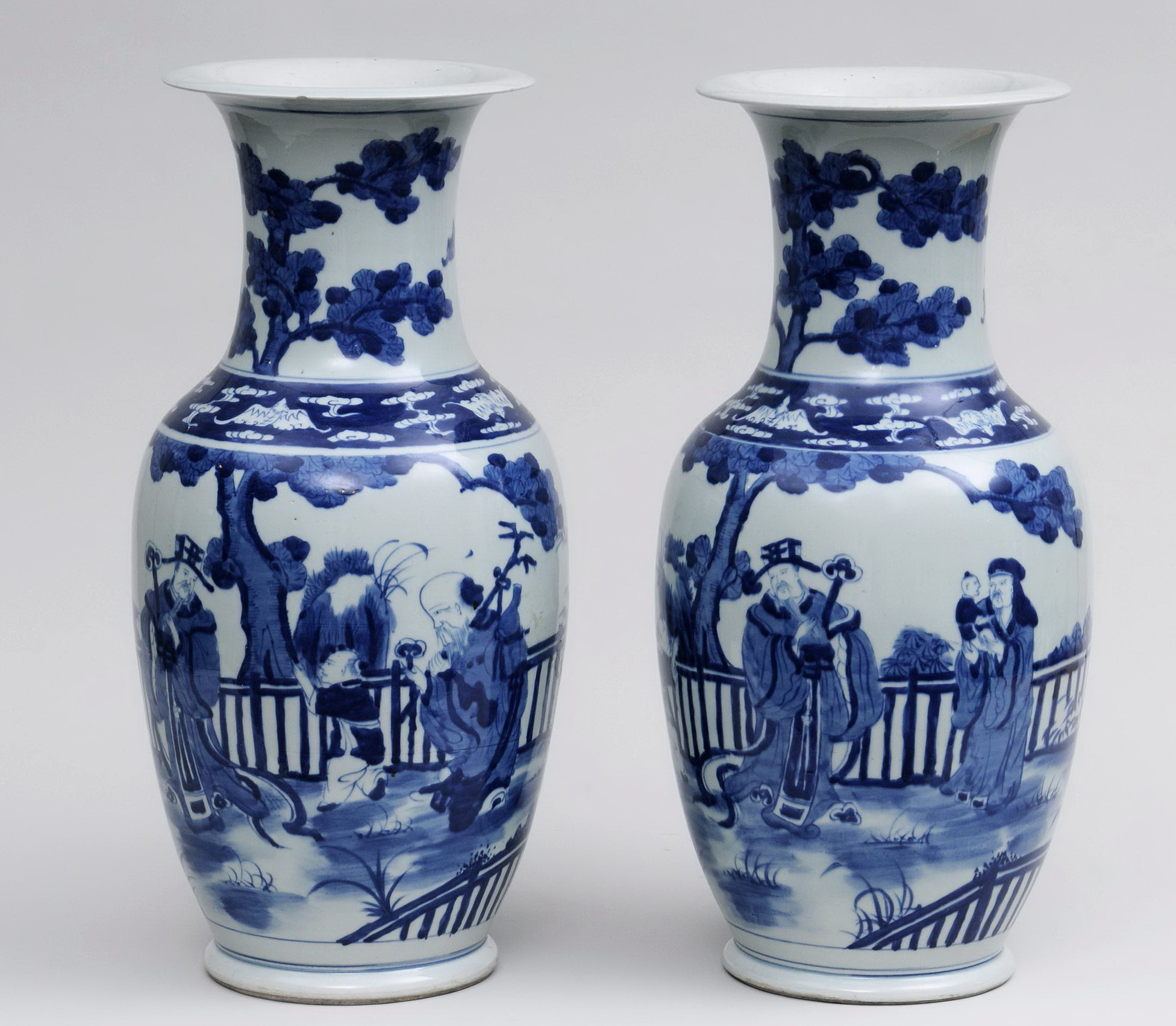 Chinese Blue And White Vases