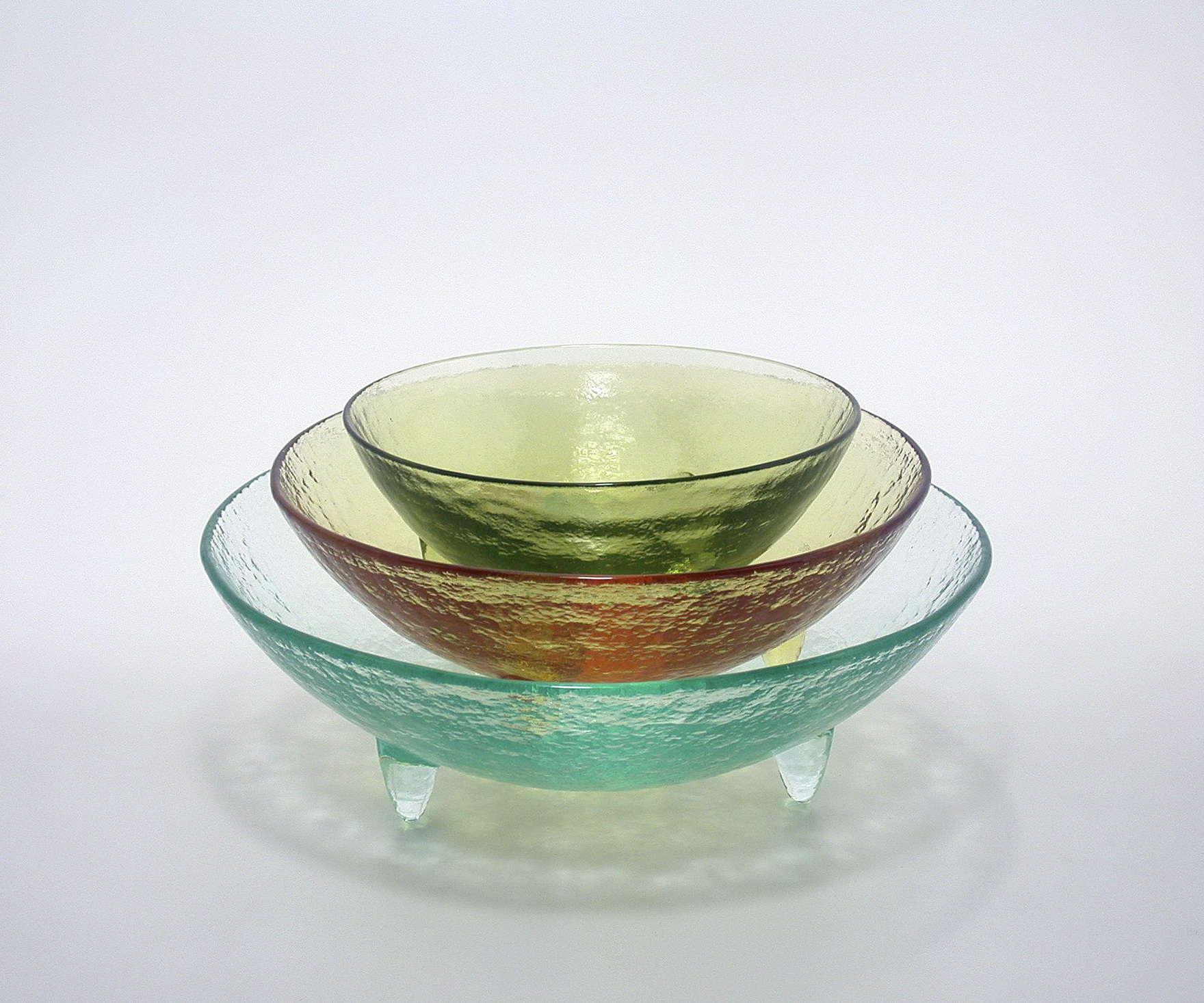 Colored Glass Vases And Bowls