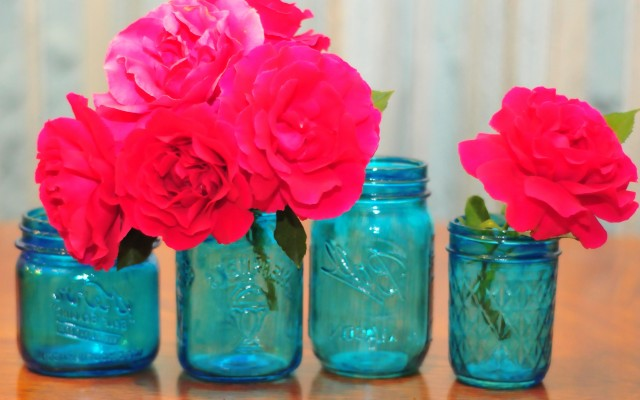Colored Glass Vases For Centerpieces