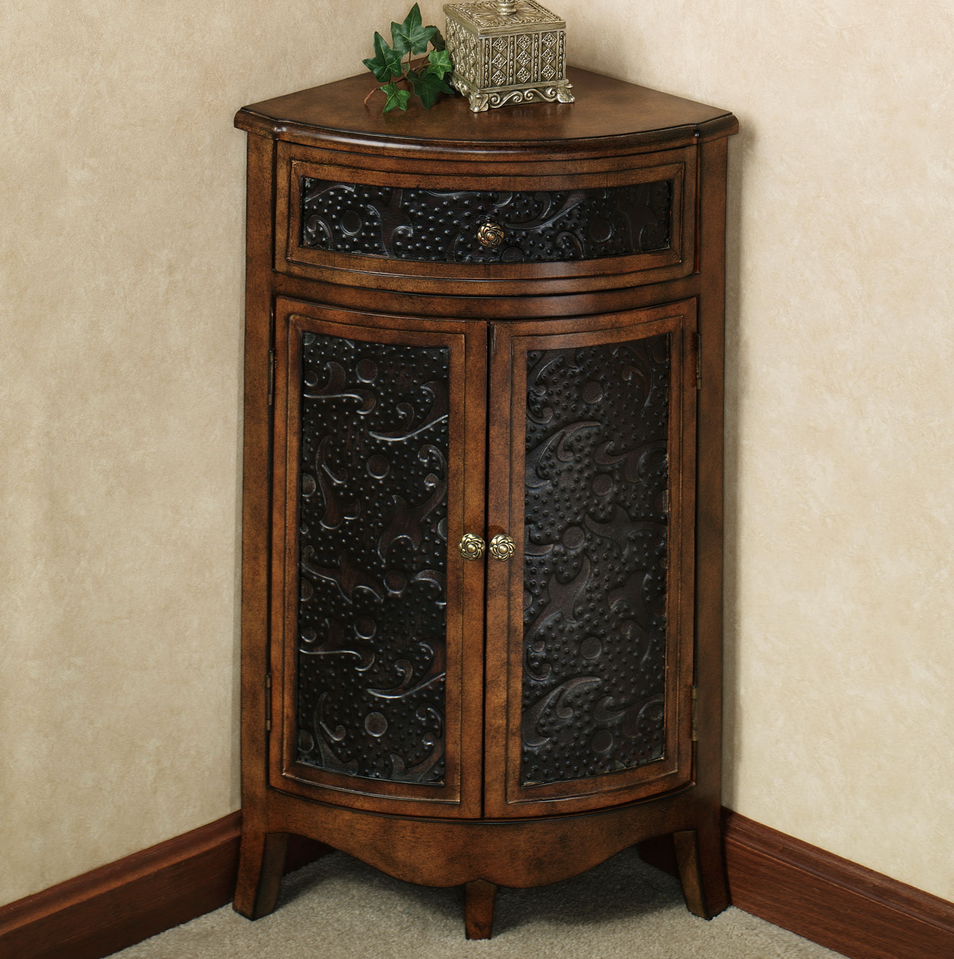 Foyer Corner Cabinet : Corner accent table with drawer home design ideas
