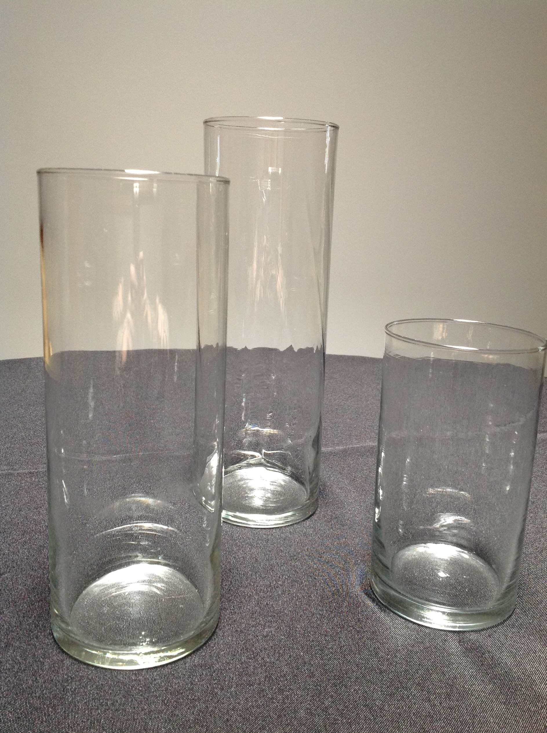 Cylinder Glass Vases Set Of 3