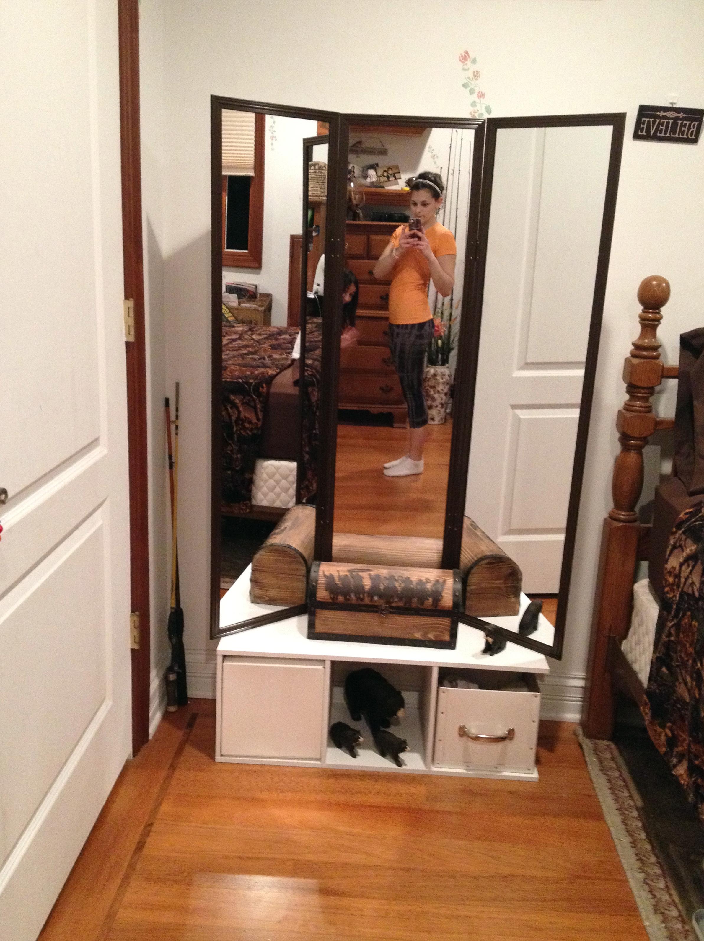 Diy Tri Fold Mirror Home Design Ideas