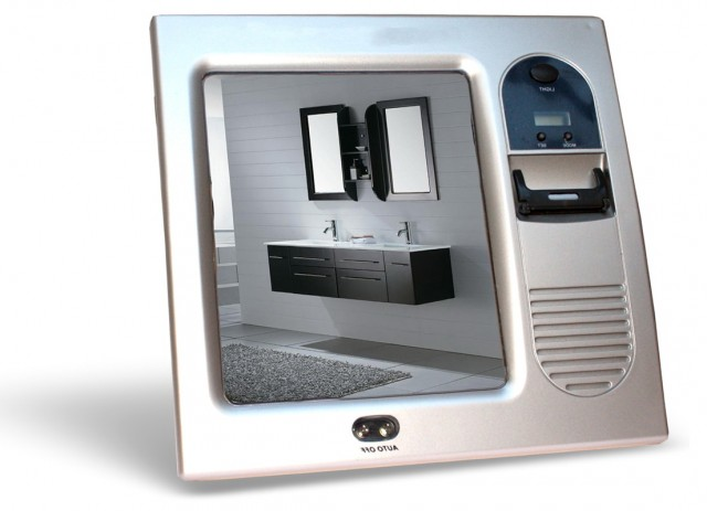 Fogless Shower Mirror With Radio