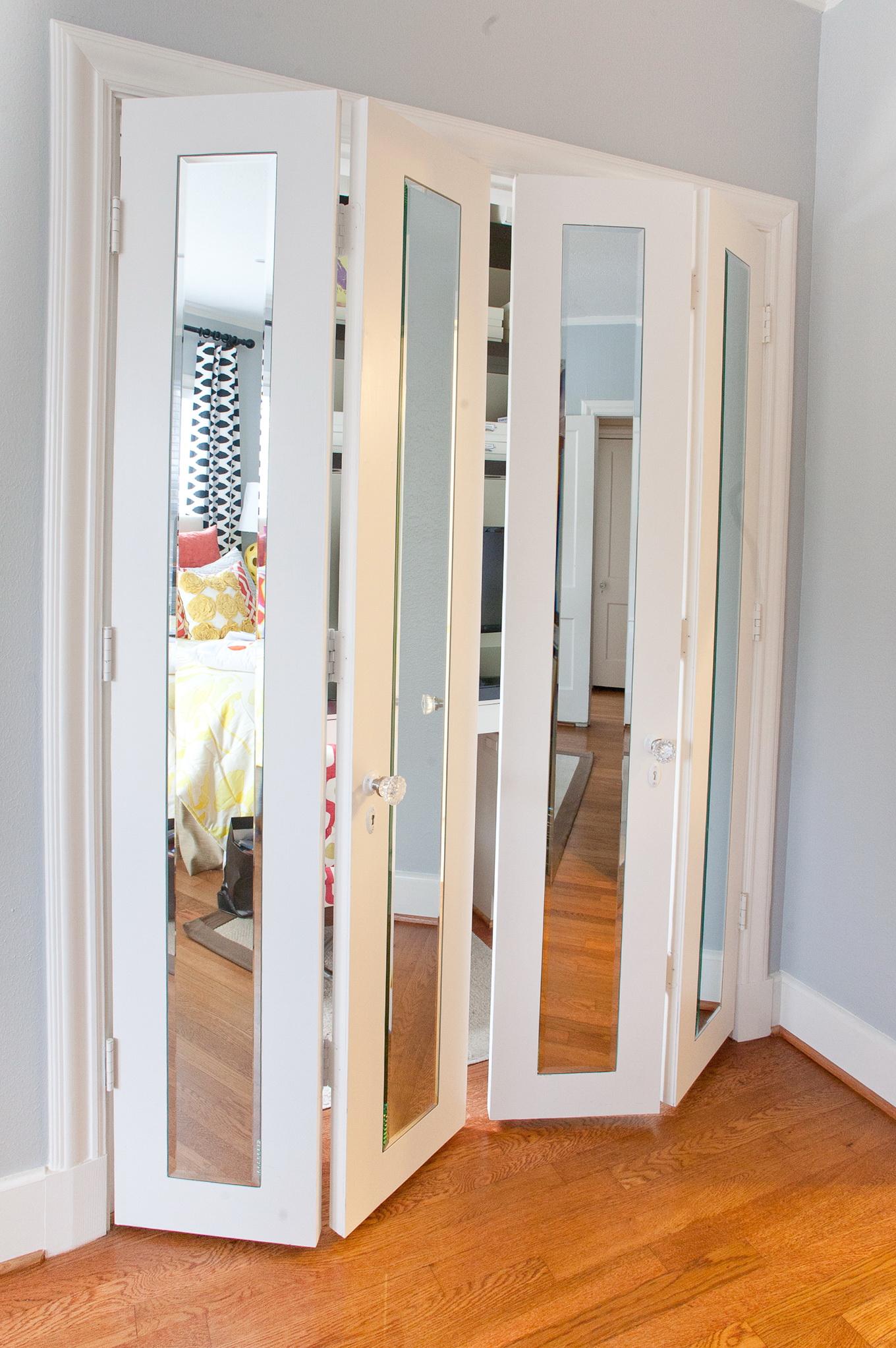Folding Mirror Closet Doors