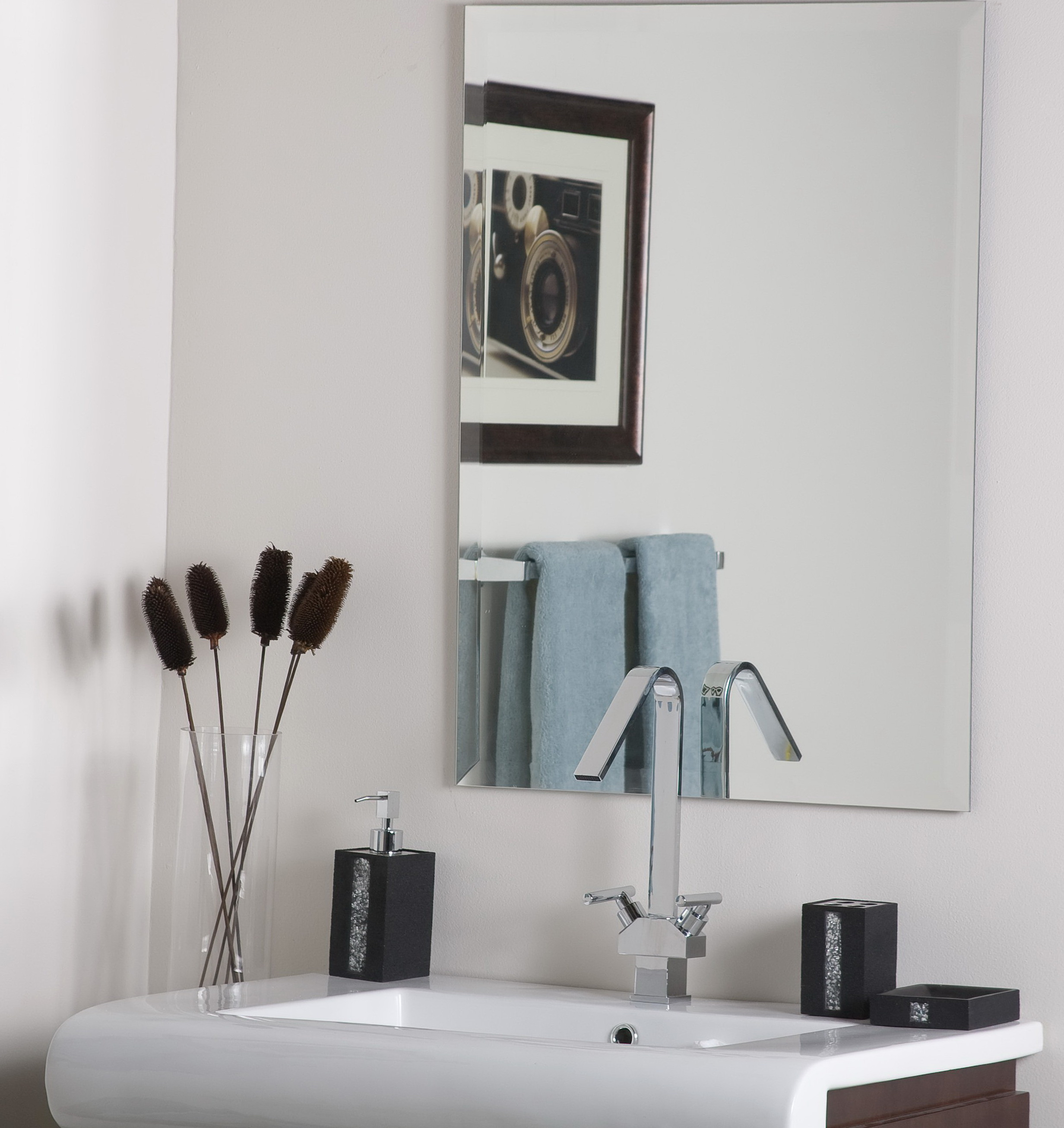 Home Depot Vanity Lights >> Frameless Bathroom Vanity Mirrors | Home Design Ideas