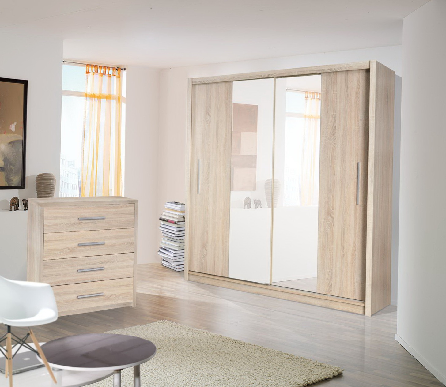 Frameless Mirror Closet Doors