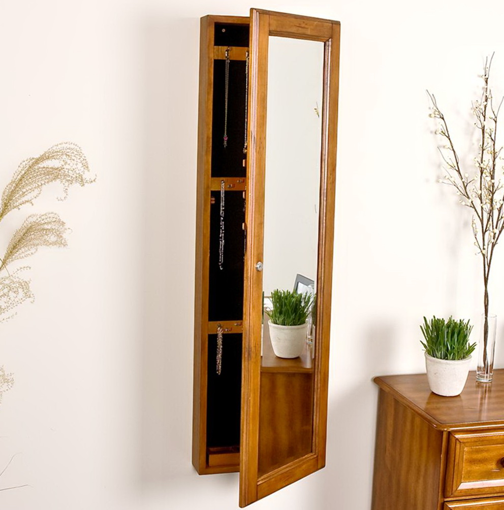 Full length wall mirror with storage home design ideas for Full wall mirrors