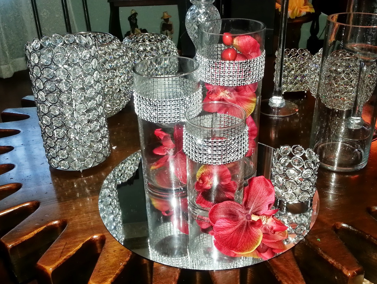 Glass Cylinder Vases With Bling Home Design Ideas