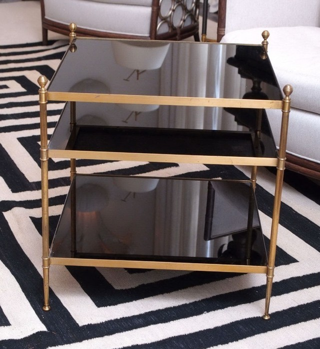 Glass Side Table With Shelf