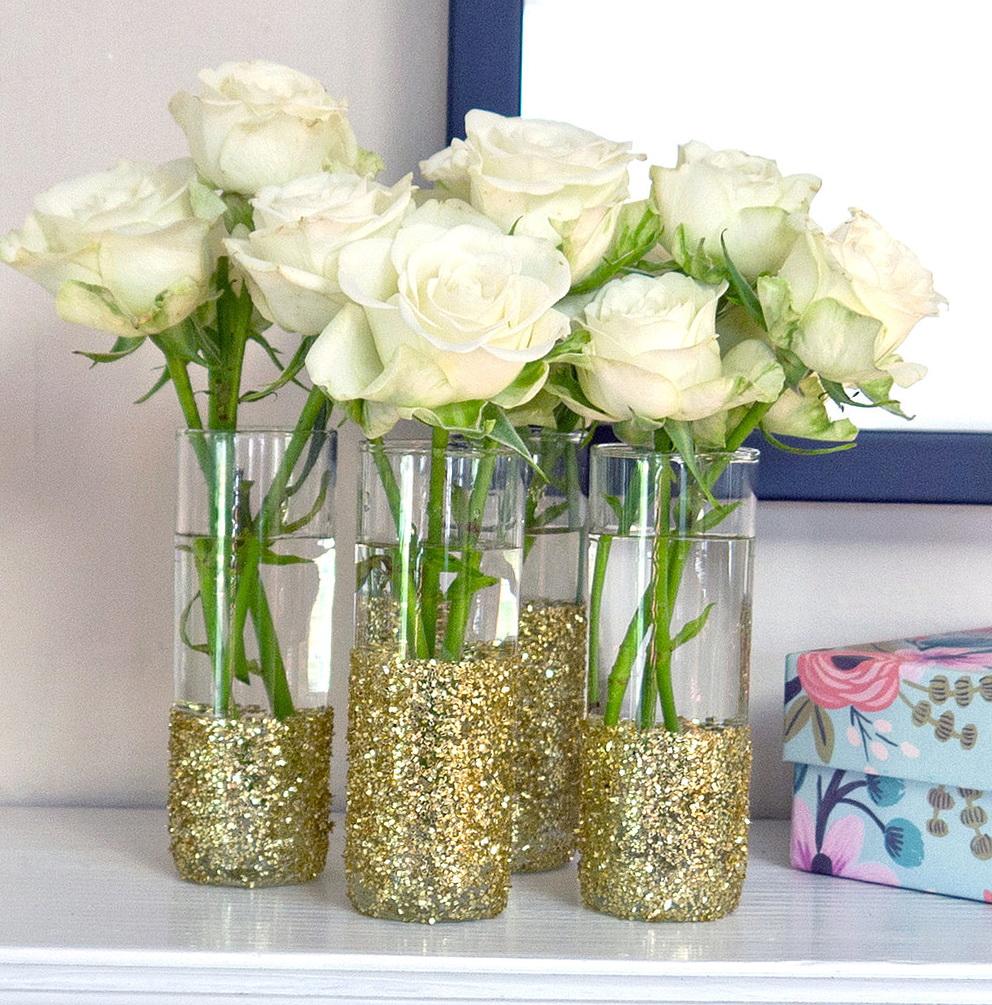 Glitter Vases For Weddings