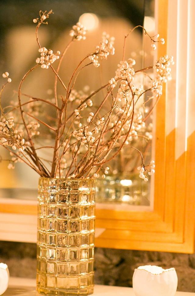 Gold Mercury Glass Vases
