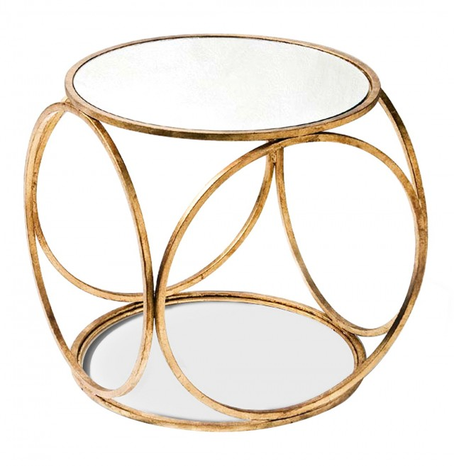 Gold Side Table Modern