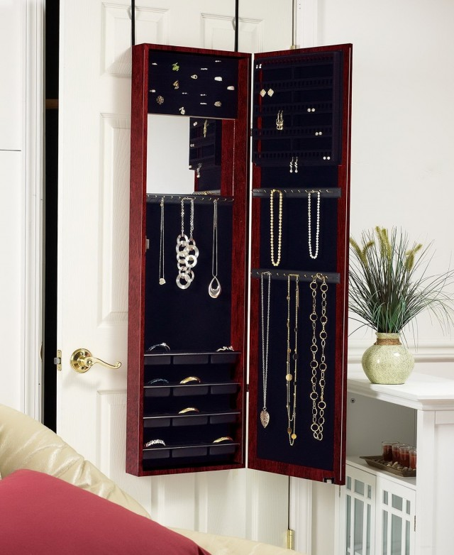 Jewelry Armoire Mirror Cabinet