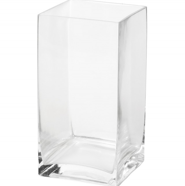 Large Square Glass Vase