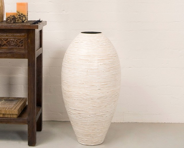 Large White Ceramic Vase