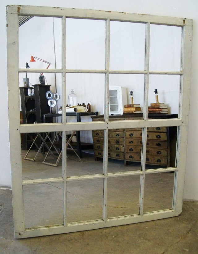 Large Window Pane Mirror
