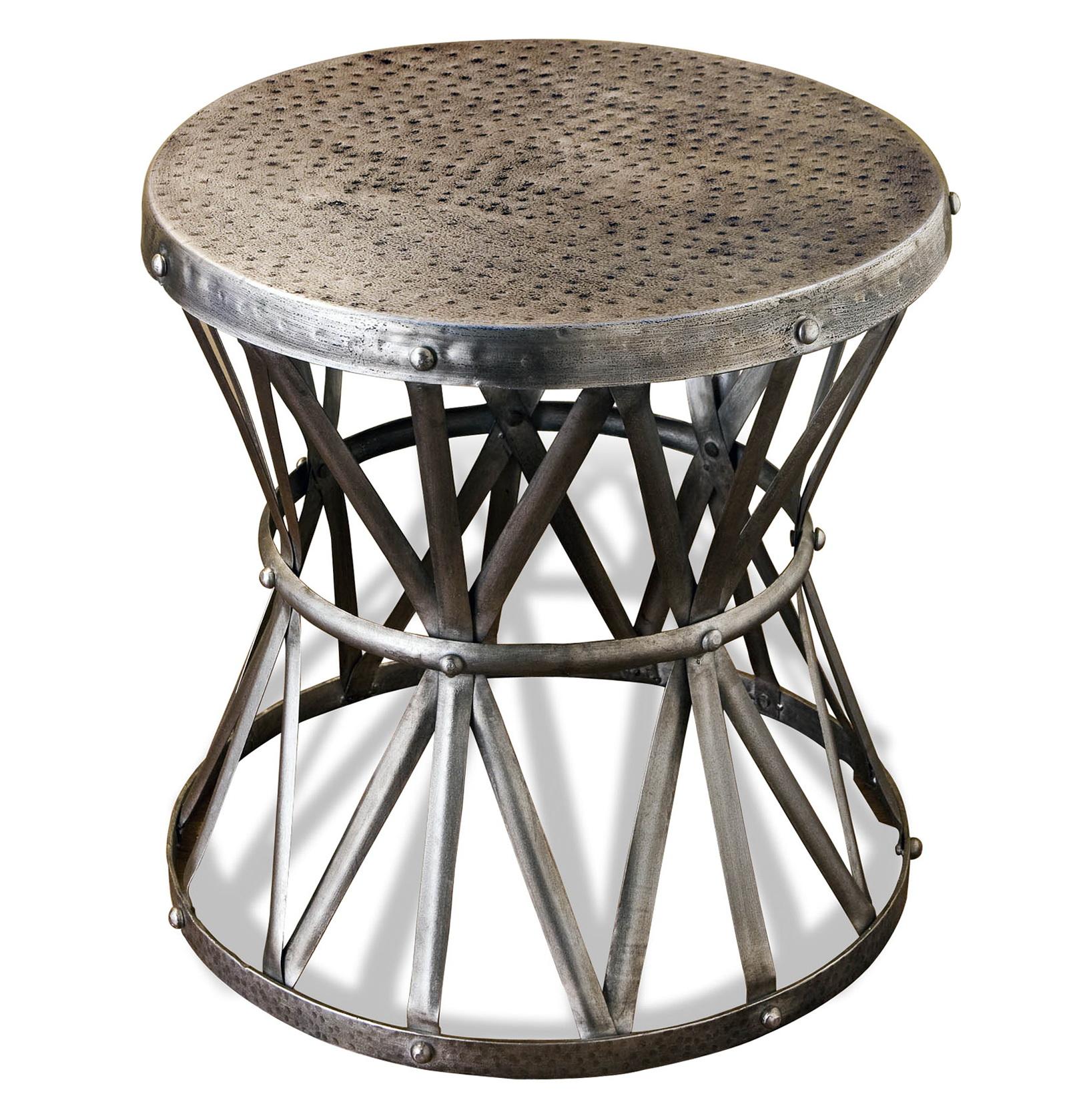 Metal Pedestal Side Table