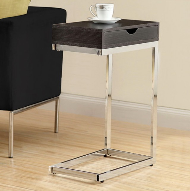 Metal Side Table With Drawer