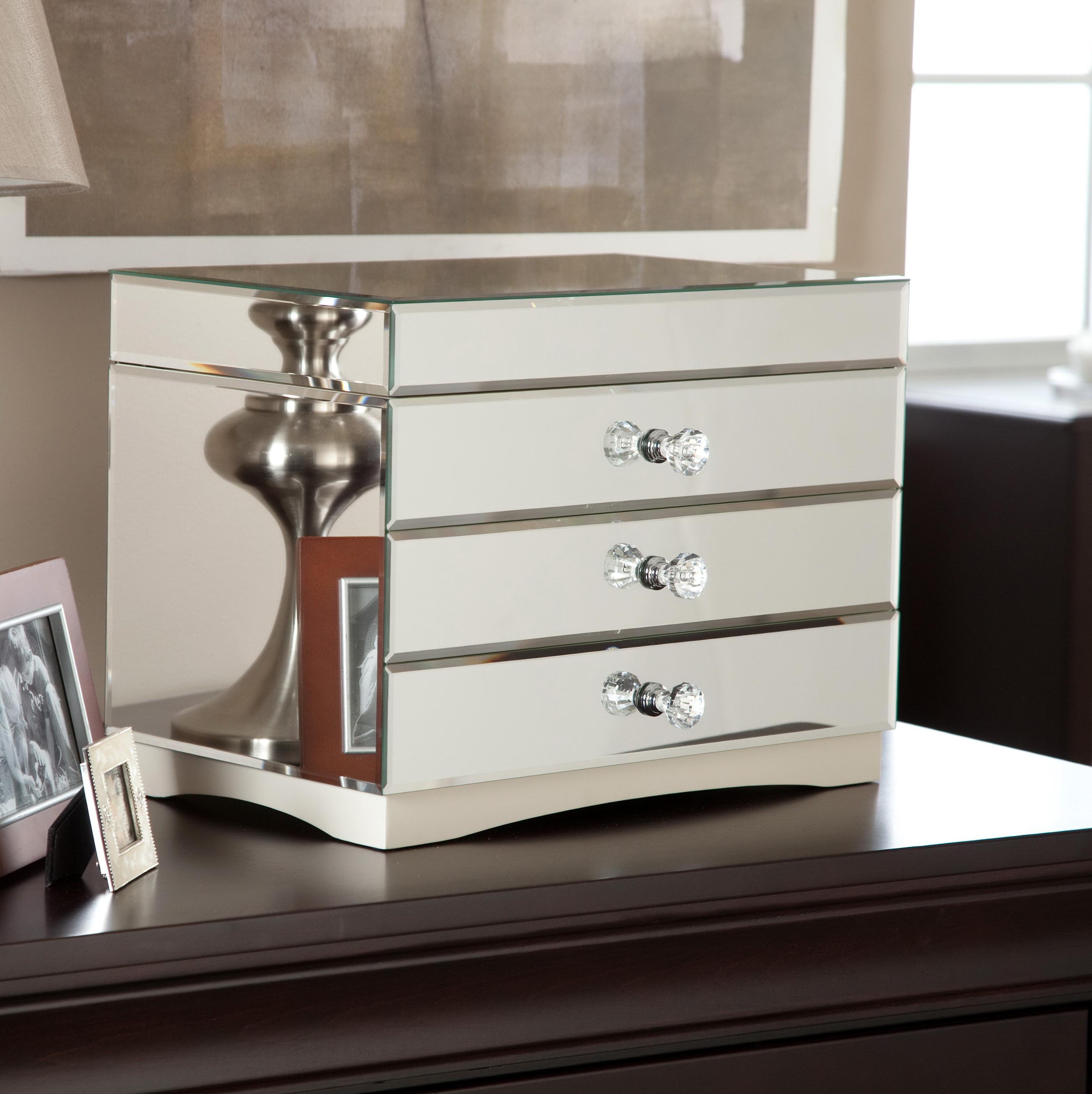 Mina Mirrored Jewelry Box Home Design Ideas