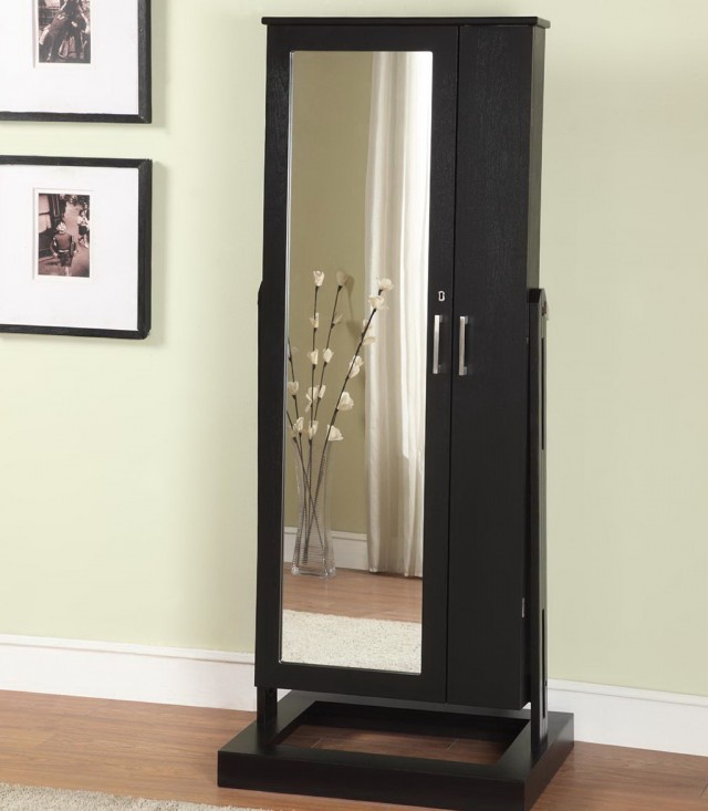 Mirror Jewelry Armoire Standing