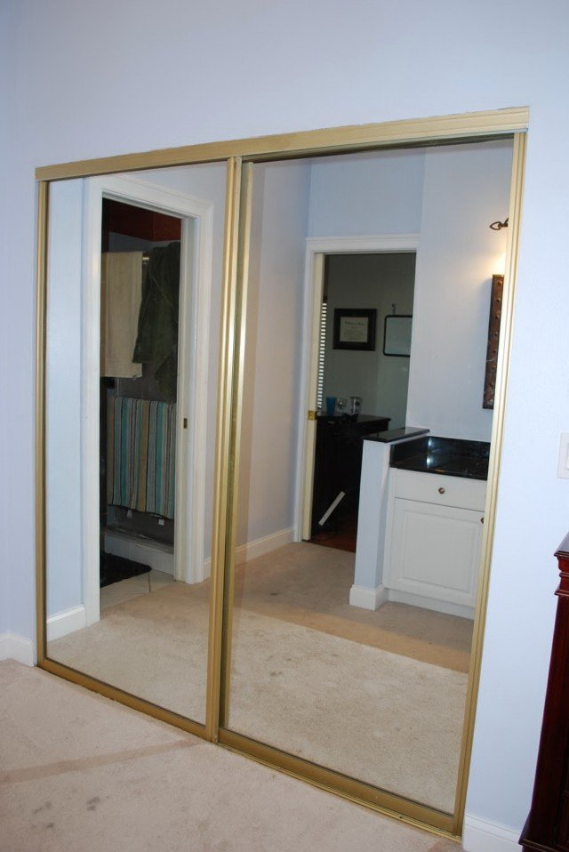 Mirrored Closet Doors Makeover