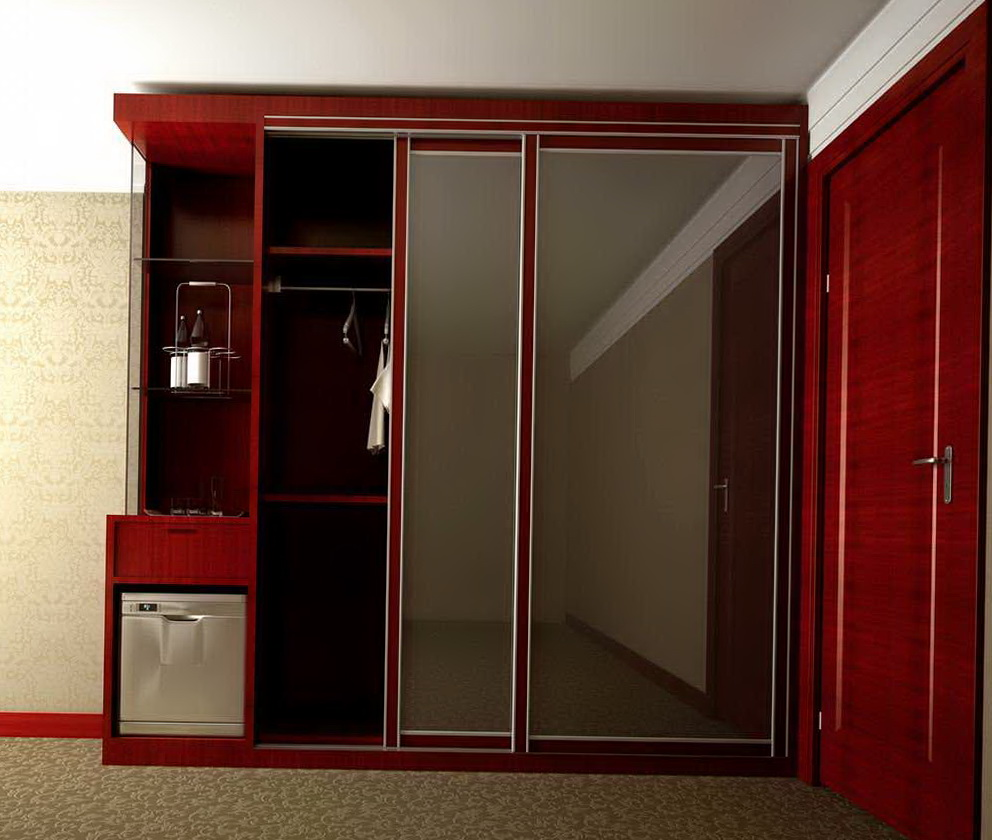 Mirrored Closet Doors With Wood Frames Home Design Ideas