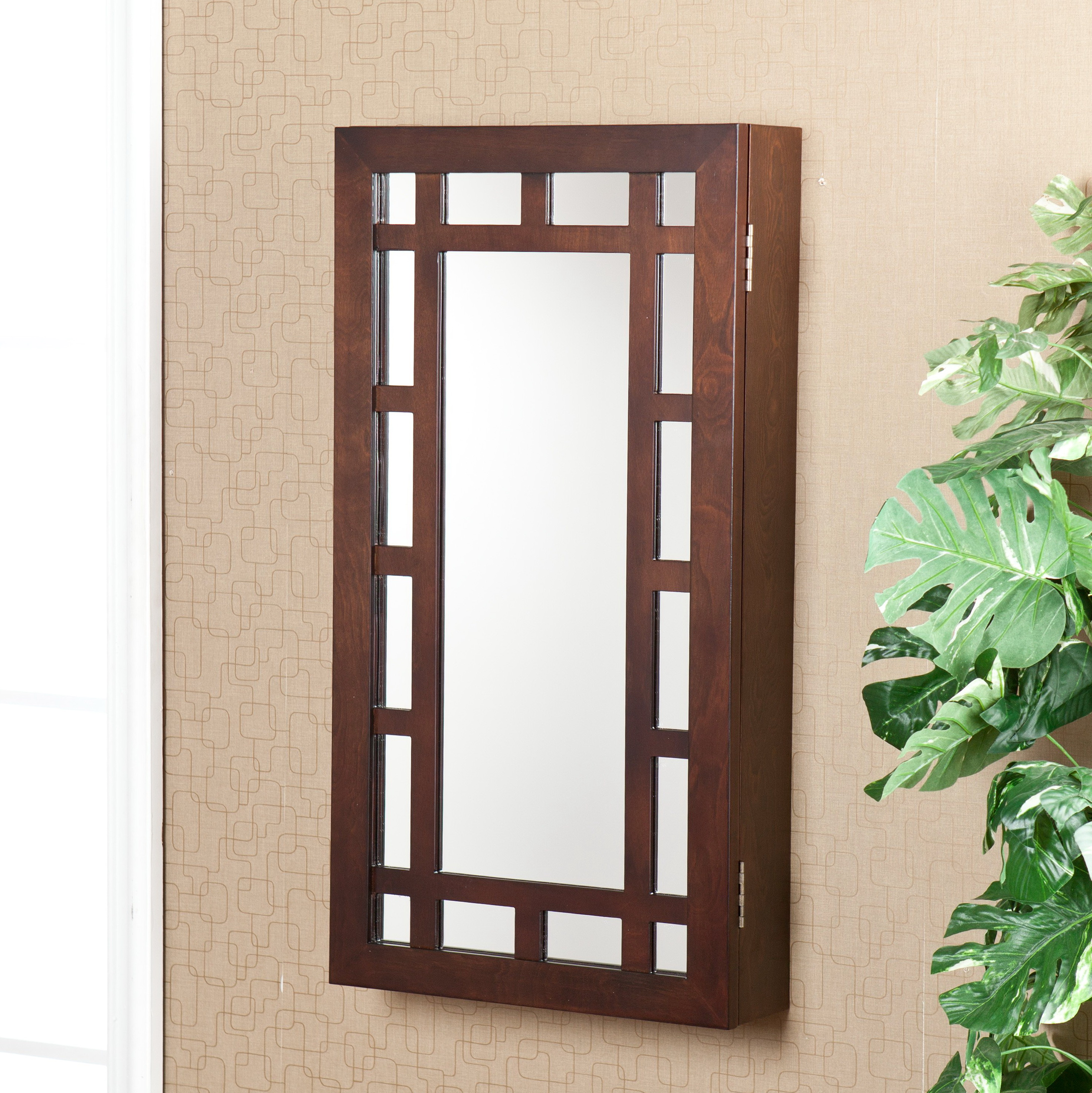 Modern Jewelry Armoire Mirror