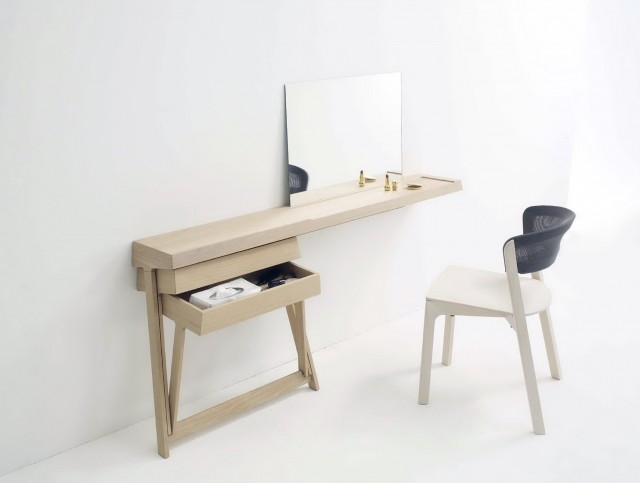 Modern Mirrored Vanity Table