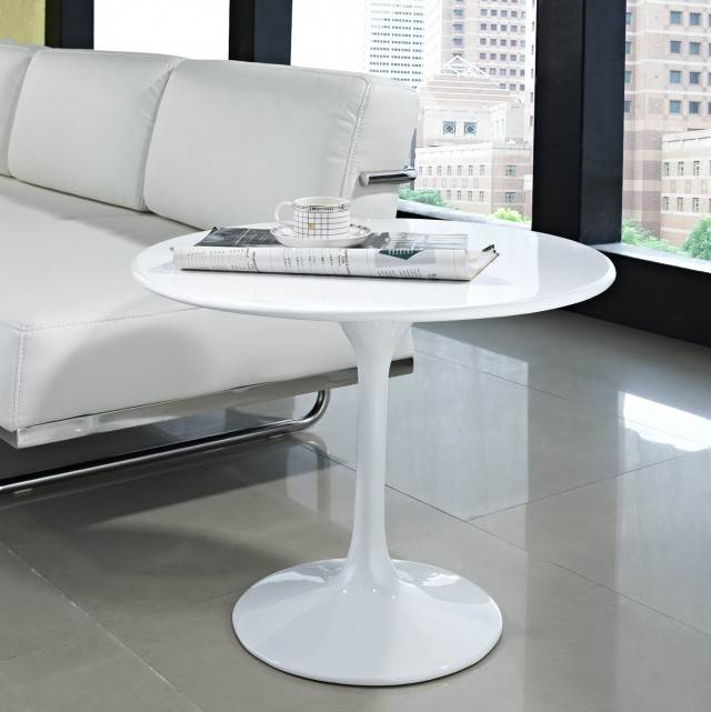 Modern Side Table White