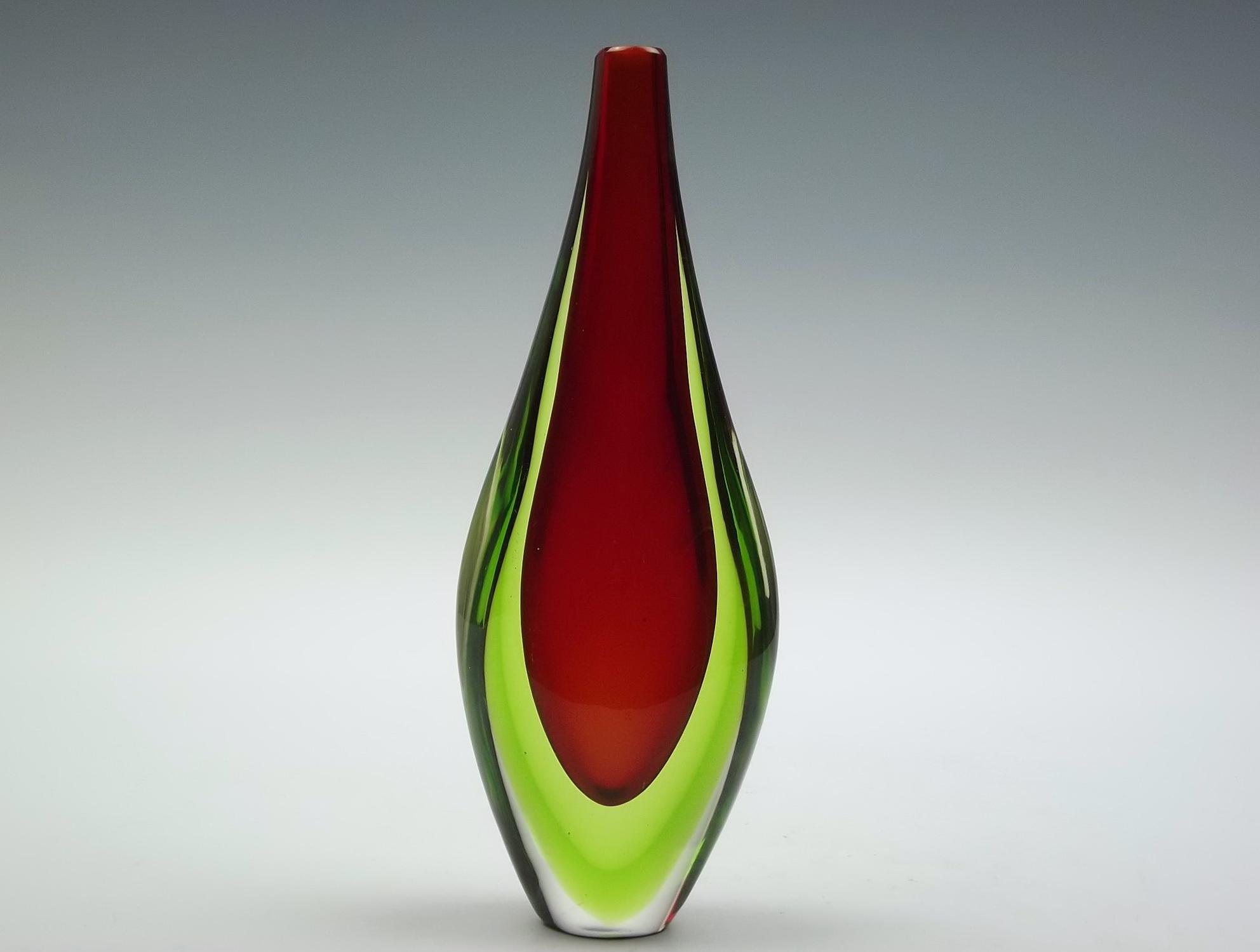 Murano Glass Vase Green