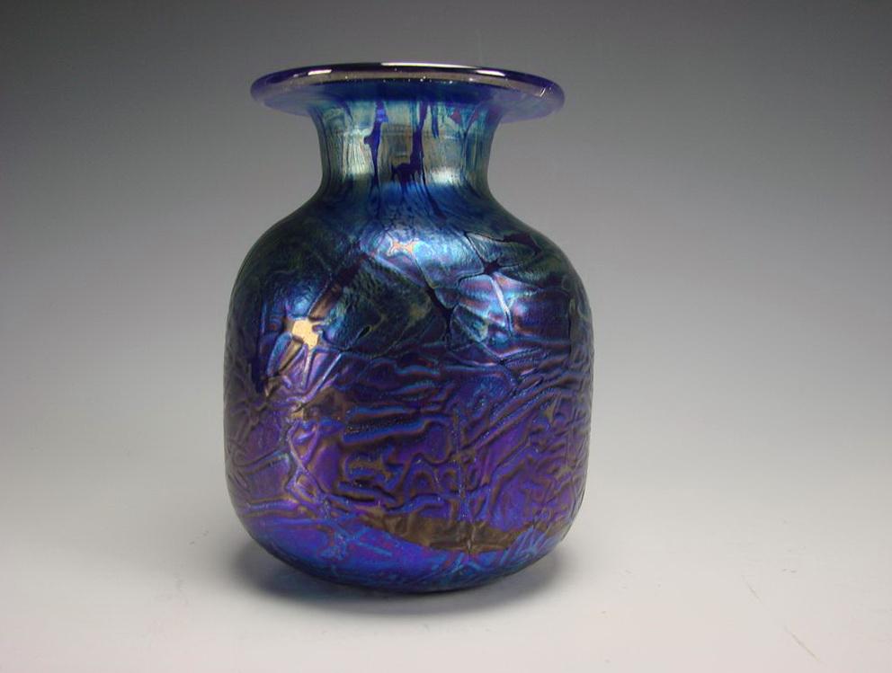 Old Blue Glass Vases