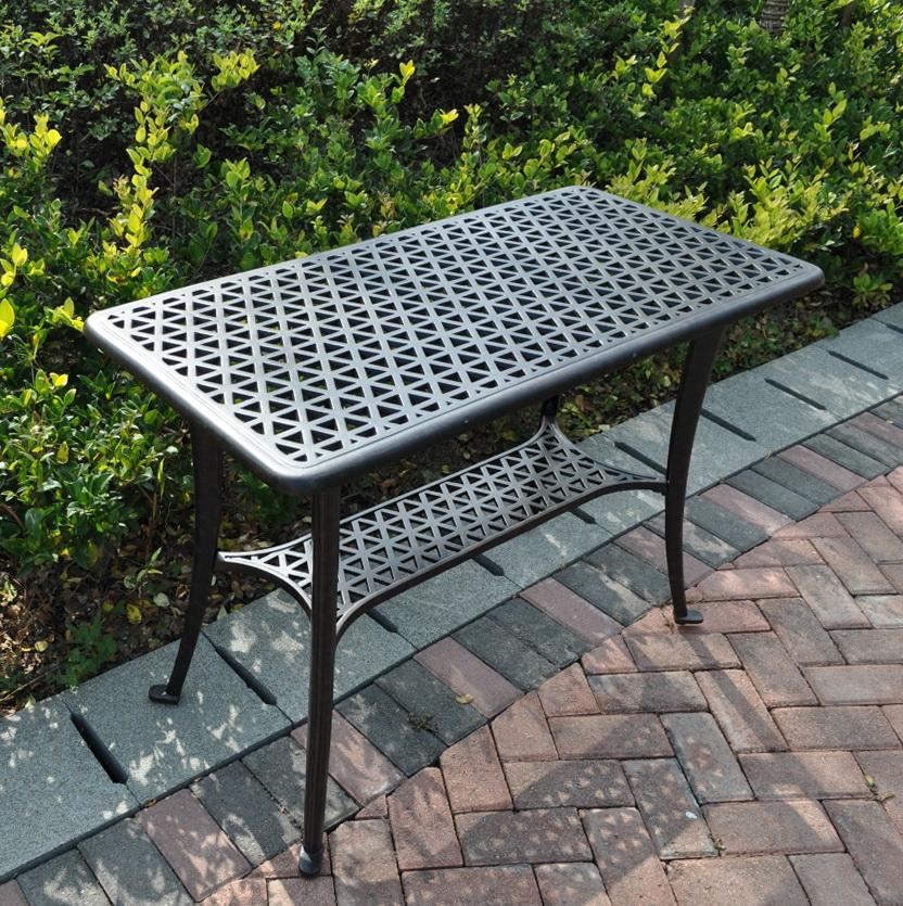 Patio Side Table Black