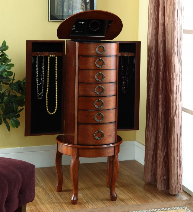 powell mirrored jewelry armoire home design ideas