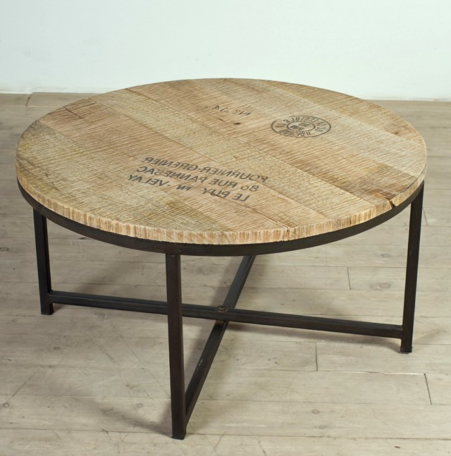 Round Rustic Side Table
