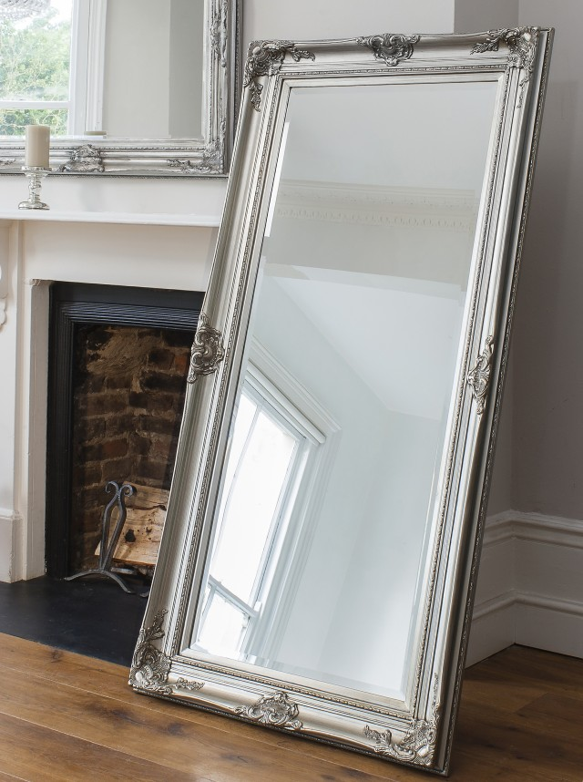 Silver Full Length Wall Mirror