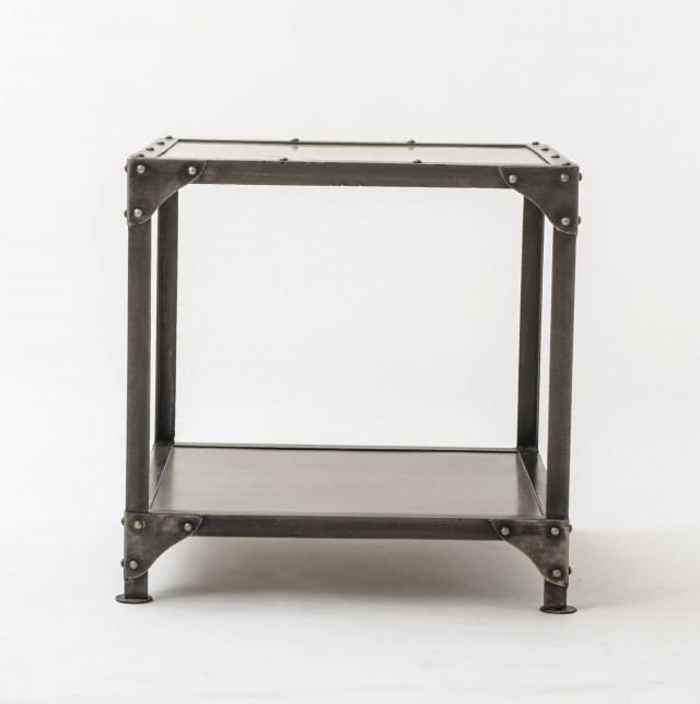 Square Metal Accent Table