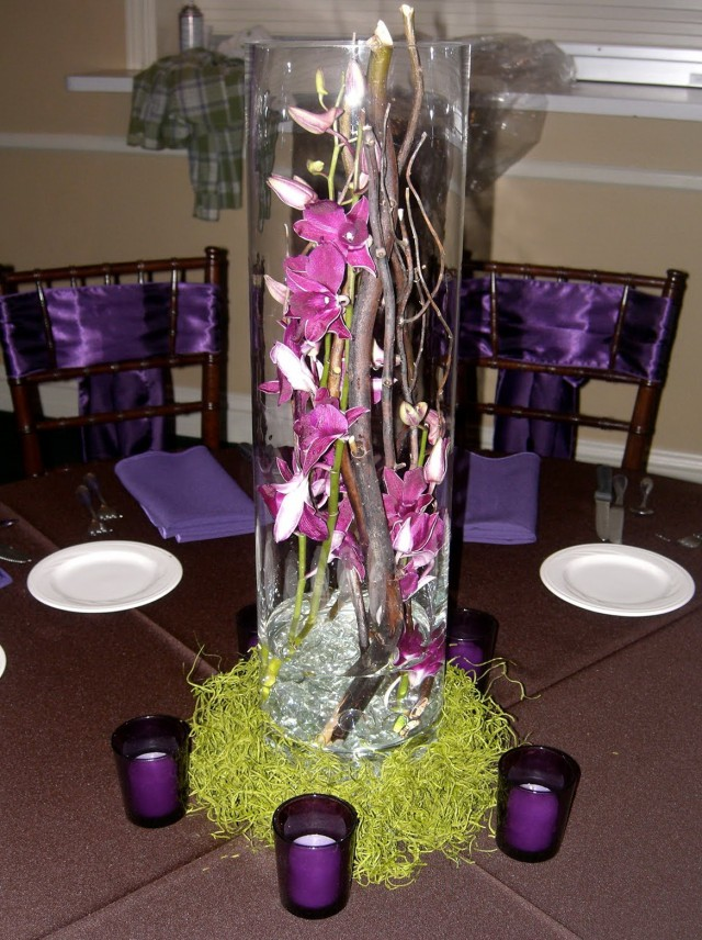 Tall Decorative Glass Vases
