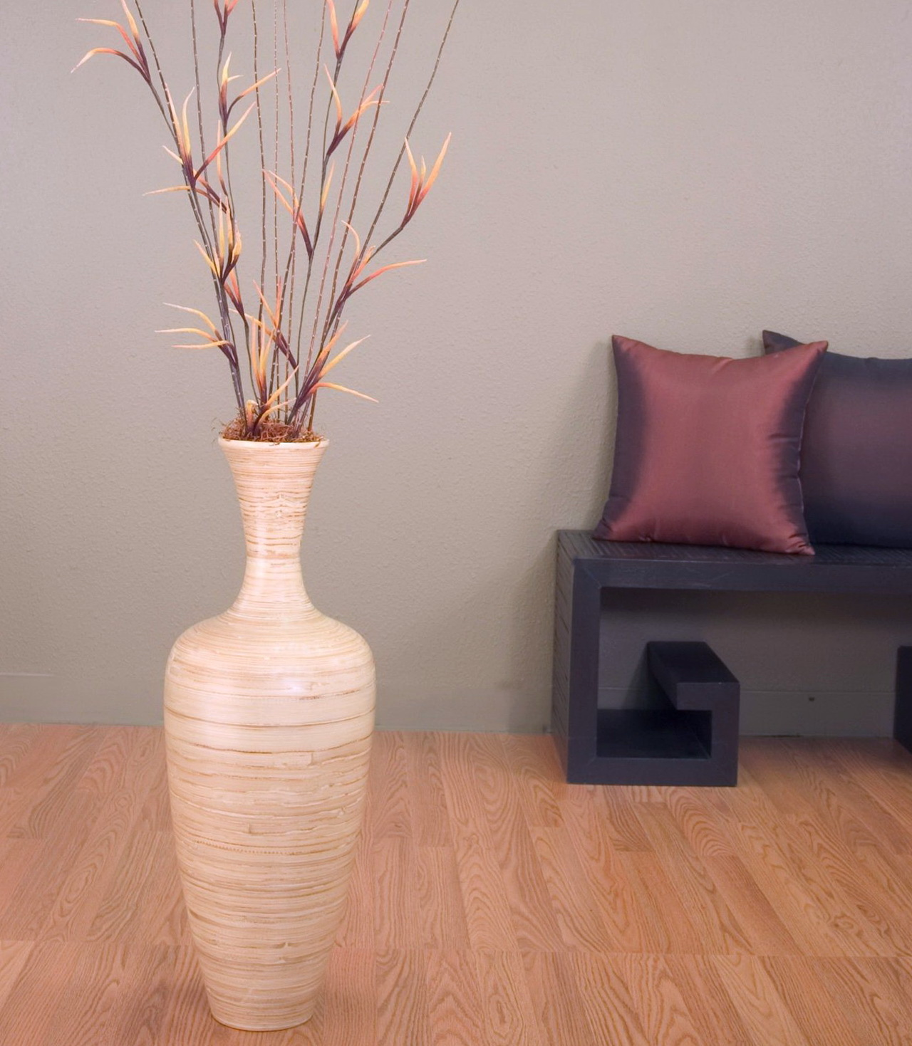 Tall floor vase arrangements home design ideas for Floor vase ideas