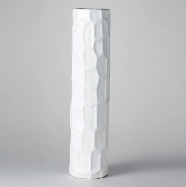 Tall White Ceramic Vases