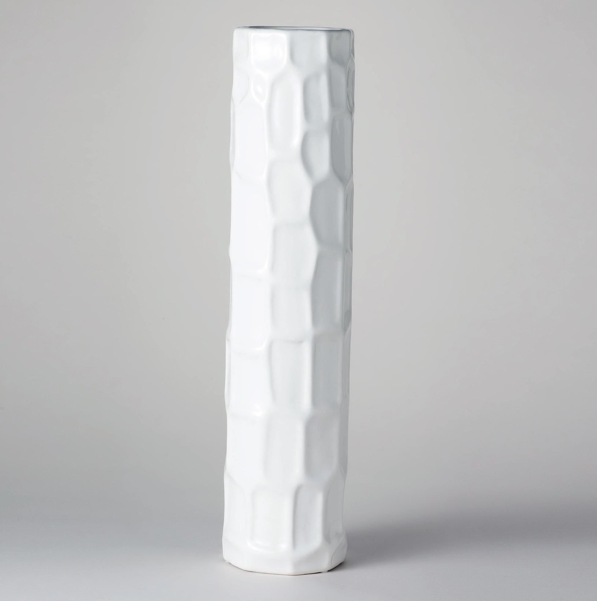 Tall White Ceramic Vases